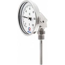 Термометры биметаллические коррозионностойкие тип БТ серии 220 (универсальное присоединение) с поворотно-откидным корпусом