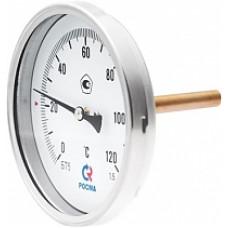 Термометры биметаллические общетехнические тип БТ серии 211 (осевое тыльное присоединение с защитной гильзой)