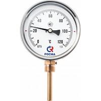 Термометры биметаллические общетехнические тип БТ серии 211 (радиальное присоединение с защитной гильзой)