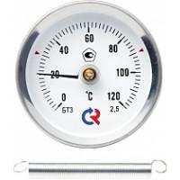 Термометры биметаллические технические специальные тип БТ (с пружиной для крепления на трубе)
